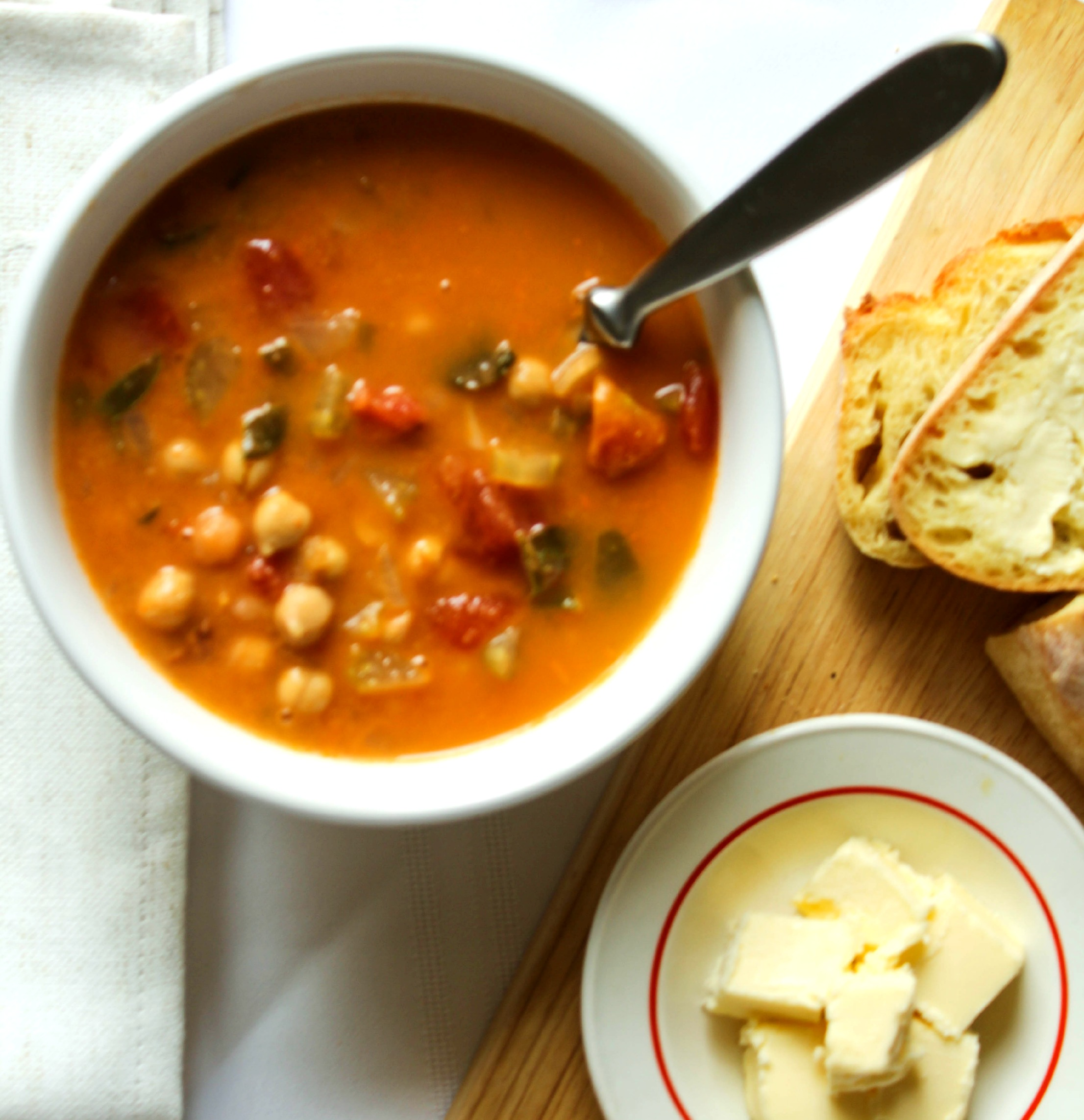 Spanish Chickpea & Chorizo Soup - Valerie's Keepers